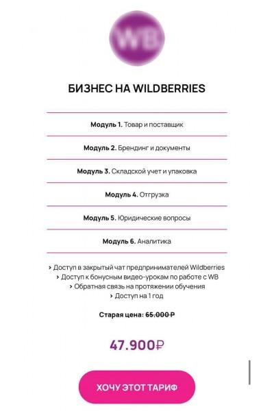 Бизнес на Wildberries. Авторский курс, Эльвира Воробьева